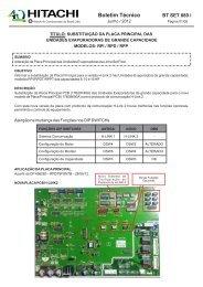 BT SET 080 i SUBST PLACA PRINCIPAL DAS UNID EVAP ... - Hitachi