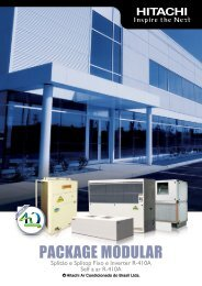 Split Alta Capacidade Package Modular - Hitachi