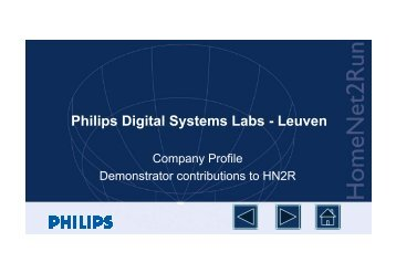 Philips Digital Systems Labs - Leuven - Hitech Projects