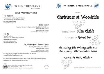 see programme - Hitchin Thespians