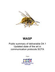 WASP deliverable D4.1 Public Summary - Hitech Projects