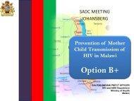 Elimination of Mother to Child Transmission