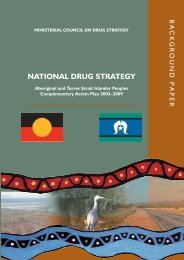 Background Paper - National Drug Strategy Aboriginal and Torres ...