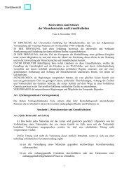 Konvention zum Schutze der Menschenrechte und Grundfreiheiten