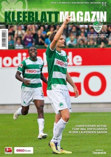 Nr. 4 MSV Duisburg 09.09.2011 - SpVgg Greuther Fürth