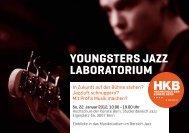 YOUNGSTERS JAZZ LABORATORIUM - Hochschule der Künste Bern