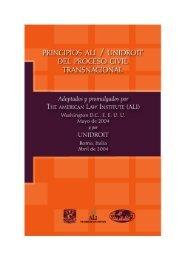 Principios ALI/UNIDROIT del proceso civil transnacional - Unam