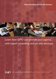 Learn how GPO can provide your agency, with expert consulting ...