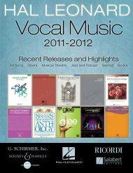 Download a pdf of the brochure - Hal Leonard