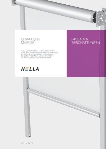 FASSADEN- BESCHATTUNGEN Senkrecht- MarkiSe - Hella Specht