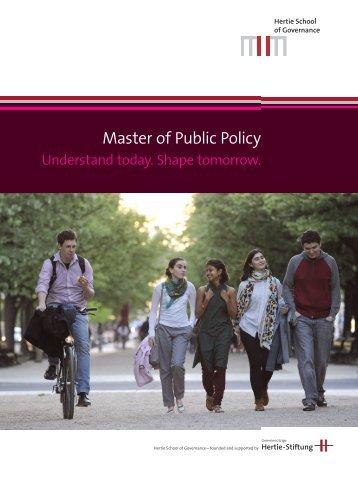 Master of Public Policy (MPP) Brochure - Hertie School of Governance