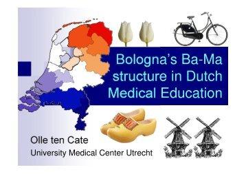 Bologna's Ba-Ma structure in Dutch Medical Education - HRK nexus