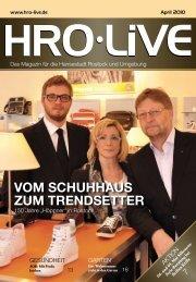 vom SchuhhauS zum TrendSeTTer - HRO·LIFE - Das Magazin für ...
