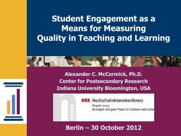 The National Survey of Student Engagement - HRK nexus