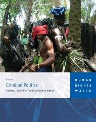 "Criminal Politics: Violence, ""Godfathers"" and Corruption in Nigeria"