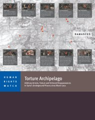 Torture Archipelago - Human Rights Watch
