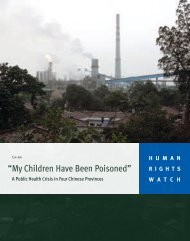 """""""My Children Have Been Poisoned"""" - Human Rights Watch"""