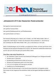 Bericht - Hessischer Ruderverband e.V.