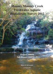 Mooney Mooney Creek Aquatic Survey Final Report (PDF File, 6.2 ...