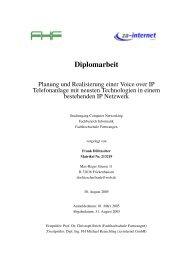 Diplomarbeit - Planung und Realisierung einer Voice-Over-IP ...