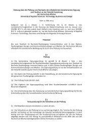 Ordnung über die künstlerische Eignungsprüfung - Hochschule ...