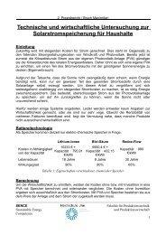 Technische und wirtschaftliche Untersuchung zur ...