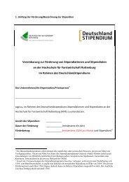 Fördervereinbarung als PDF - Hochschule Rottenburg