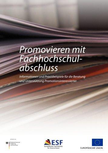 Promovieren mit FH-Abschluss - Hochschule Hannover