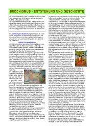 BUDDHISMUS - ENTSTEHUNG UND GESCHICHTE