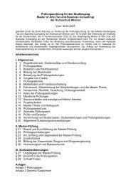 Prüfungsordnung für den Master-Studiengang - Hochschule Wismar