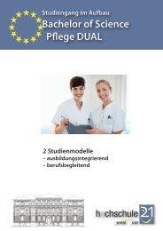 Pflege DUAL - Hochschule 21