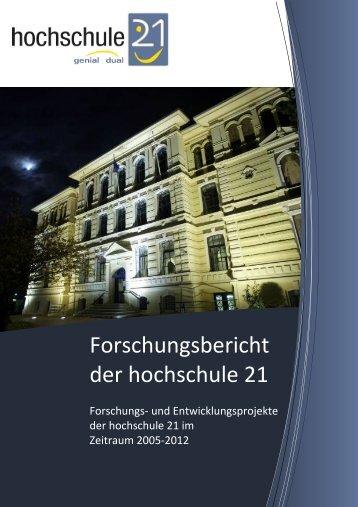 finden Sie den aktuellen Forschungsbericht - Hochschule 21