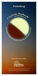 Flyer Lyrische Mondnacht - Hamburger Sternwarte