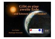 Exoplaneten -- Gibt es eine zweite Erde - Hamburger Sternwarte