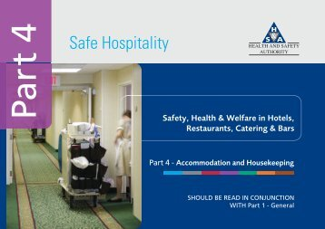 Part 4 of Safe Hospitality - Health and Safety Authority