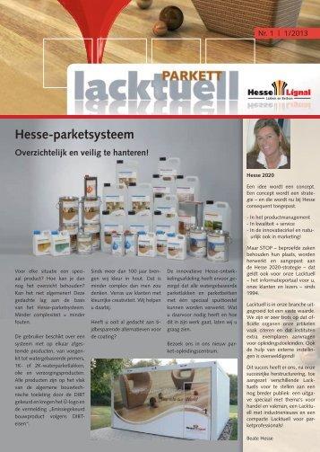 Parket - Lacktuell, Uitgave 1 - Hesse Lignal
