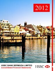 2012 Consolidated Financial Statements - HSBC Bermuda