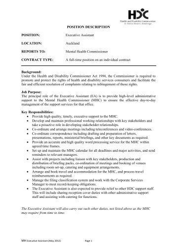 Faculty Position Description Assistant Medical Director San