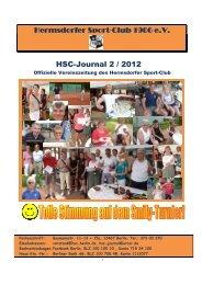 Hermsdorfer Sport-Club 1906 e.V. HSC-Journal 2 / 2012