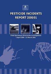 pesticide incidents report 2000/01 pesticide incidents report ... - HSE