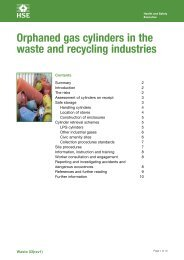 Orphaned compressed gas cylinders in the waste and recycling - HSE