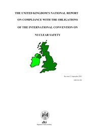 The United Kingdom's National Report on compliance with ... - HSE