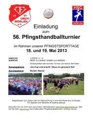 56. Pfingsthandballturnier - HSG Mörlen