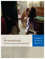 The Second Assault - Human Rights Watch