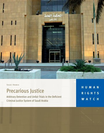 Precarious Justice - Human Rights Watch