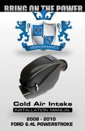 2 Ford 6.4 L Powerstroke Cold Air Intake - H&S Performance