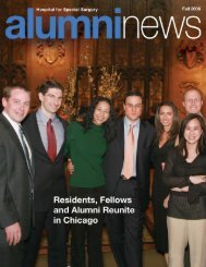 Alumni News (Fall 2006) - Hospital for Special Surgery
