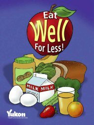 Eat Well for Less - Health and Social Services - Government of Yukon