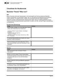 Checkliste für Studierende.pdf - Hsw-basel.ch