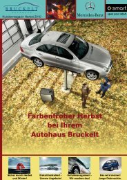 Farbenfroher Herbst bei Ihrem Autohaus Bruckelt